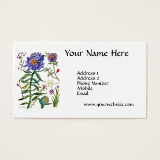 Blaue Blume Visitenkarten