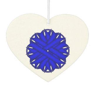 Blaue Blumen-Band-Schablone Autolufterfrischer