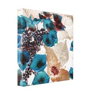 Blaue Blumen Galerie Gefaltete Leinwand