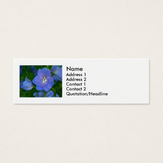 Blaue Blumen Mini Visitenkarte
