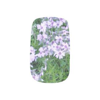 Blaue Blumen Minx Nagelkunst
