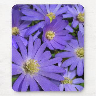 Blaue Blumen Mousepad lila/blaue Dekor-Geschenke