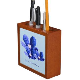 Blaue Blumen Stifthalter