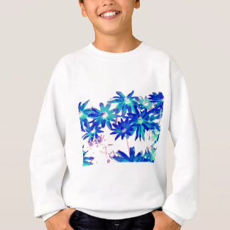 Blaue Blumen Sweatshirt