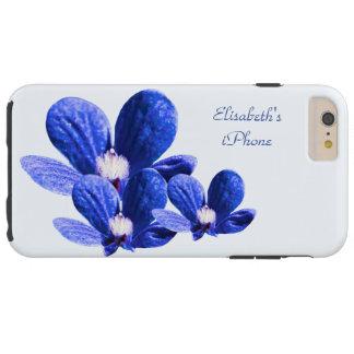 Blaue Blumen Tough iPhone 6 Plus Hülle