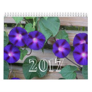 Blaue Blumen Wandkalender