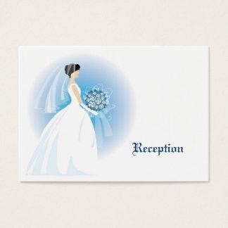 Blaue Blumenstrauß-Empfangs-Karten Visitenkarte