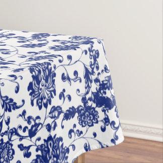 Blaue Blumentischdecke Tischdecke