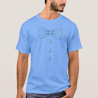 Blaue Bogen-Krawatte T-Shirt