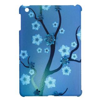 Blaue Bokah Blüten-Niederlassungen iPad Mini Schale