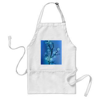 Blaue Bokah Blüten-Niederlassungen Schürze