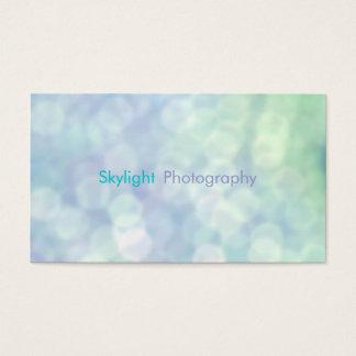 Blaue Bokeh Fotografie-Visitenkarten Visitenkarte