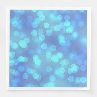 Blaue Bokeh Papier- mit LeselinienTafelservietten Papierserviette