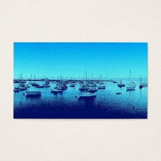 Blaue Boote auf blauer Bucht Visitenkarte