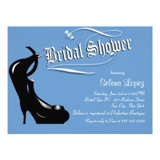 Blaue Brautparty-Einladungen