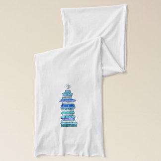 Blaue Buch-Schal Schal