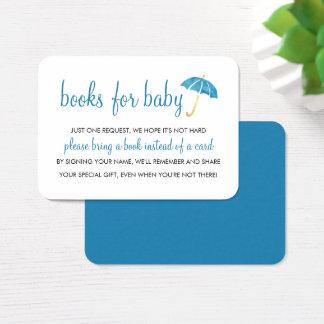 Blaue Bücher der Regenschirm-Babyparty-| für Visitenkarte
