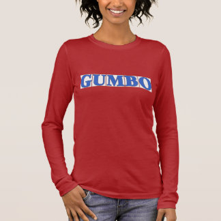 Blaue Buchstabe-Fliesen, GUMBO Langarm T-Shirt