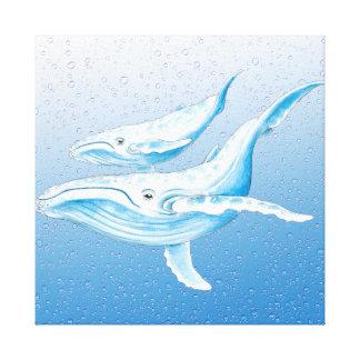 Blaue Buckel Waterdrops Leinwanddruck