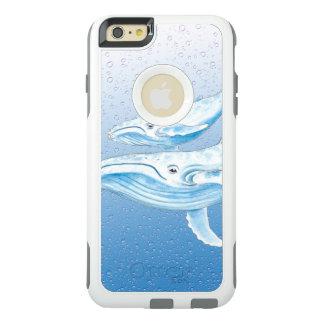 Blaue Buckel Waterdrops OtterBox iPhone 6/6s Plus Hülle