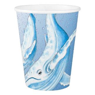 Blaue Buckel Waterdrops Pappbecher