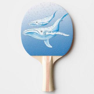 Blaue Buckel Waterdrops Tischtennis Schläger