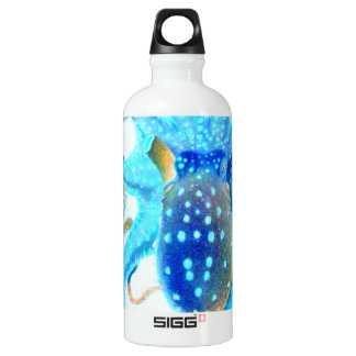 Blaue bunte Krake Aluminiumwasserflasche