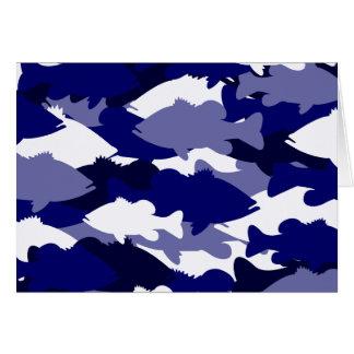 Blaue Camouflage-Bass-Fischen Karte