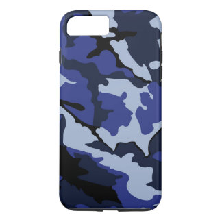 Blaue Camouflage, starke iPhone 7 Plusfall iPhone 8 Plus/7 Plus Hülle