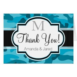 Blaue Camouflage, Tarnung danken Ihnen Karte