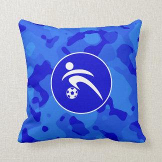Blaue Camouflage; Tarnungs-Fußball Kissen