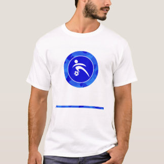 Blaue Camouflage; Tarnungs-Fußball T-Shirt