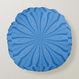 Blaue Chanukka-Streifen Rundes Kissen