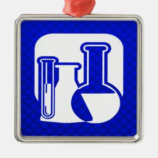 Blaue Chemie Weinachtsornamente