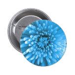 Blaue Chrysantheme Button