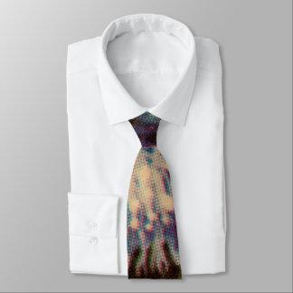 Blaue Chrysantheme Krawatte