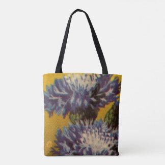 Blaue Chrysantheme Tasche