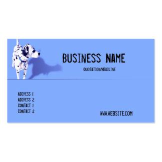 Blaue Dalmation HundeVisitenkarte Visitenkarten