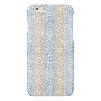 Blaue Damast-Band-Süßigkeit Stripes Kawaii Linien