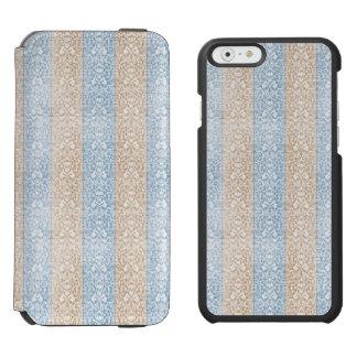 Blaue Damast-Band-Süßigkeit Stripes Kawaii Linien Incipio Watson™ iPhone 6 Geldbörsen Hülle
