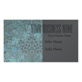 Blaue dekorative PastellBlumen Visitenkartenvorlagen