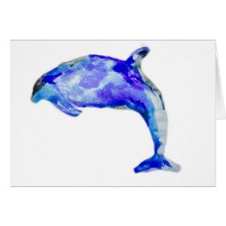 Blaue Delphin-Gruß-Karte Karte