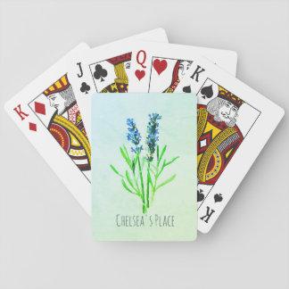Blaue der Dilly-Plattform des Lavendels Spielkarten