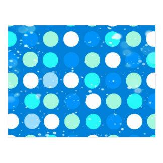 Blaue des Gurrens große, weiße, hellblaue Tupfen Postkarten