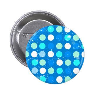 Blaue des Gurrens große, weiße, hellblaue Tupfen Runder Button 5,7 Cm