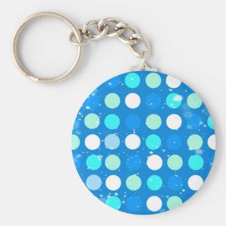 Blaue des Gurrens große, weiße, hellblaue Tupfen Standard Runder Schlüsselanhänger
