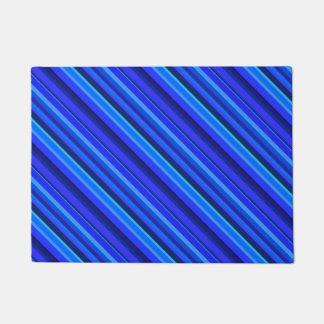 Blaue diagonale Streifen Türmatte