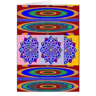 BLAUE DIAMANT Chakra Rad-Blume königlich Karte