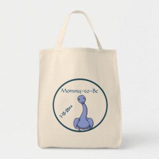 Blaue Dinosaurier-Babyparty Tragetasche