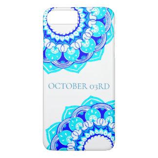 Blaue doppelte Mandala Phonecase iPhone 8 Plus/7 Plus Hülle